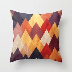 Eccentric Mountains Throw Pillow