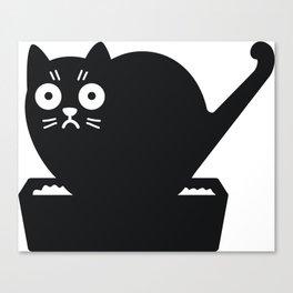 Surprised cat! Canvas Print