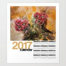 2017 Calendar Cactus Flower Art Print