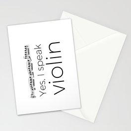 Do you speak violin? Stationery Cards