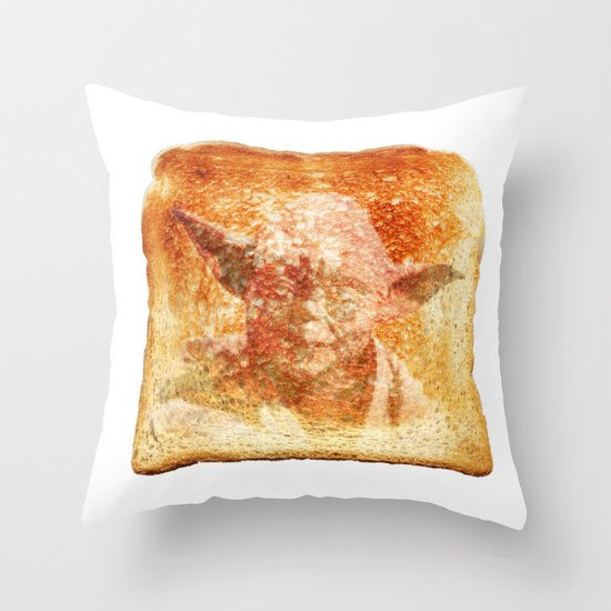 yoda toast Throw Pillow
