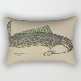 Green Fish Rectangular Pillow