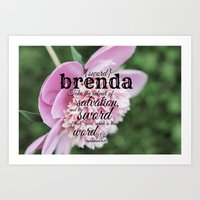 scripture Art Prints featuring Brenda scripture by KimberosePhotography