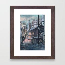 Tokyo at Night #07 Framed Art Print