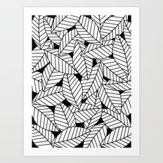 Leaves in Black Art Print