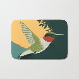 Ruby-Throated Hummingbird Bath Mat