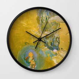 Kano Hogai - Top Quality Art - Mercy Kannon Wall Clock