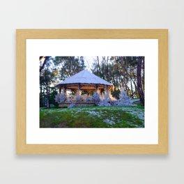 Kiosk in winter Framed Art Print