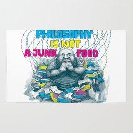 Philosophy is not a junk food Rug