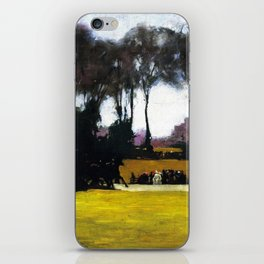 Central Park - New York City Landscape Painting by George Wesley Bellows iPhone Skin