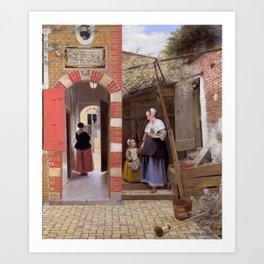 """Pieter de Hooch """"The Courtyard of a House in Delft"""" Art Print"""