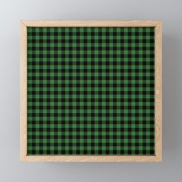 Classic Green Country Cottage Summer Buffalo Plaid Framed Mini Art Print