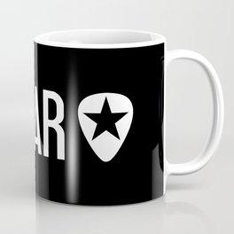 Guitarist: Guitar Pick & Black Star Coffee Mug