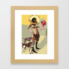 Milou tête Framed Art Print