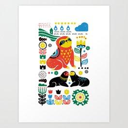 Scandinavian Sloths Art Print