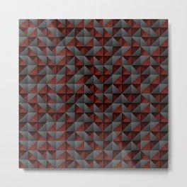 Tech Mosaic Red Metal Print