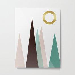 Geometric landscape with gold II Metal Print