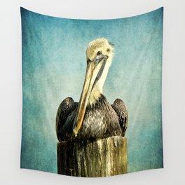 Brown Pelican Art Wall Tapestry