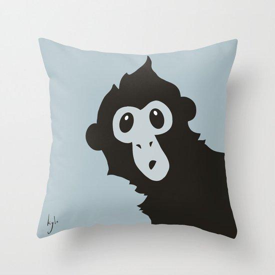 Spider Monkey - Peekaboo! Throw Pillow