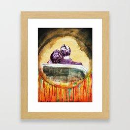 Rockwell romance Framed Art Print