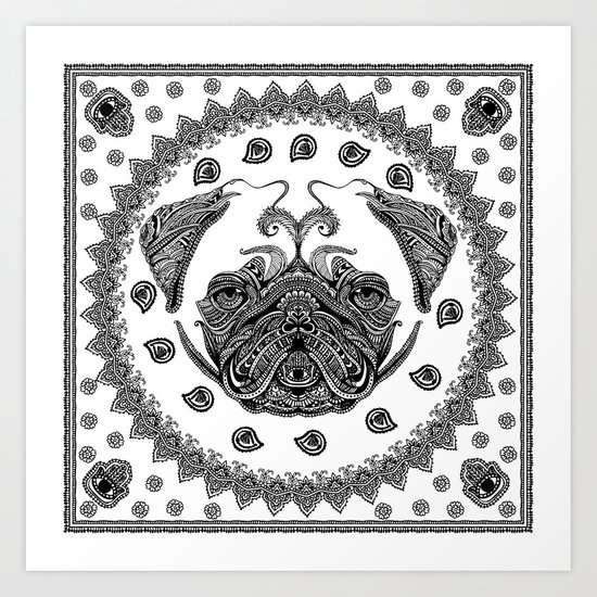 Henna of Pugly Art Print