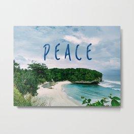 Peace Beach Metal Print
