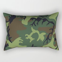Military camouflage,soldiers pattern decor. Rectangular Pillow