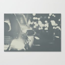 City Traffic in black and white Canvas Print