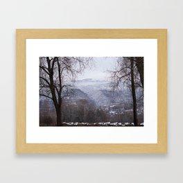 Ohrid, Macedonia winter scene Framed Art Print