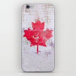 Canadian Flag Painting Tote Bag Abstract Maple Leaf Canada iPhone Skin