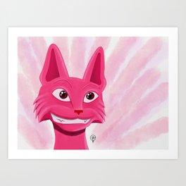Lollipop the pinky cat Art Print