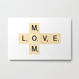 MOM - Mother's Day Scrabble Art Metal Print