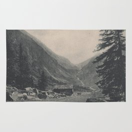 Swiss Mountain Lithography Rug