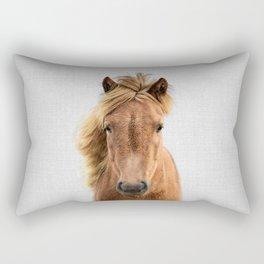 Wild Horse - Colorful Rectangular Pillow