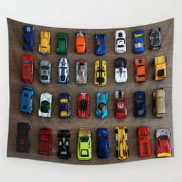1980's Toy Cars Wall Tapestry