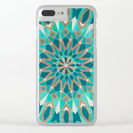 Zellige - Morocco - Casablanca III Clear iPhone Case