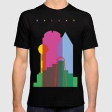 Shapes of Dallas. Accurate to scale. Mens Fitted Tee Black MEDIUM