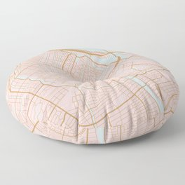 Amsterdam map Floor Pillow