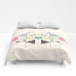 GEOMETRIC SPACE Comforters