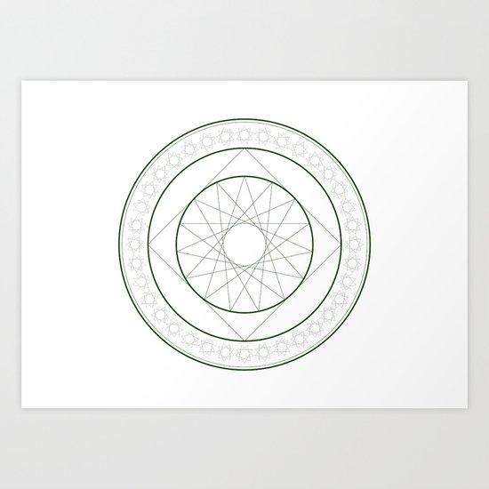 Anime Magic Circle 4 Art Print