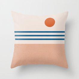 Abstraction_SUN_Horizon_Minimalism_001 Throw Pillow