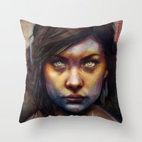 political Throw Pillows featuring Una by Michael Shapcott