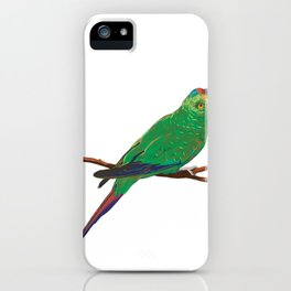 Swift Green Parrot iPhone Case