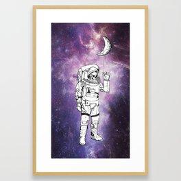Astronaut Gerahmter Kunstdruck