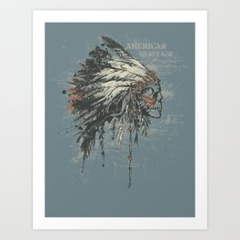 American Heritage (Dark) Art Print
