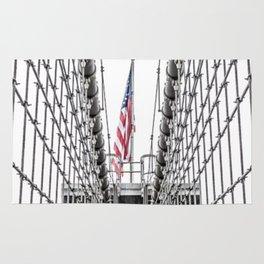 The Brooklyn Bridge and American Flag Rug
