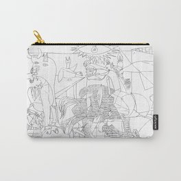Picasso Line Art - Guernica Carry-All Pouch