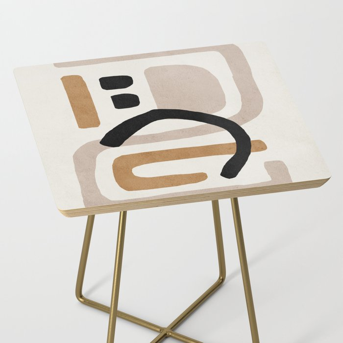 Abstract shapes art, Mid century modern art Side Table