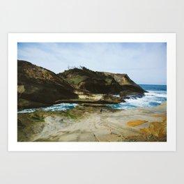 Girl on the Oregon Cliffs Art Print