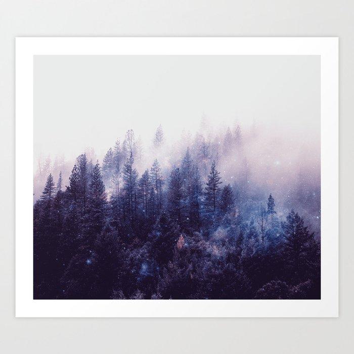 Misty Space Kunstdrucke